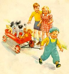 Dick and Jane and Spot and Puff ,first grade reader. See Dick.see Jane. See dick run. See Jane run. My Childhood Memories, Sweet Memories, Nostalgia, Images Gif, Bing Images, Vintage Children's Books, Vintage Toys, Vintage Art, Vintage Ephemera
