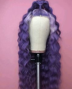 Would y'all rock this lace front wig? Purple Wig, Pretty Hair Color, Colored Wigs, Barbie Hair, Natural Hair Styles, Long Hair Styles, Hair Laid, Baddie Hairstyles, Lace Hair