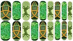 Celtic Nail Wraps  Easy Apply Nail Decals The latest trends in nail art brought to you by Geek Craft Factorium. These lovely wraps can be applied over varnish on either your natural or false nails. ENJOY AWESOME NAILS  Nail Wrap Listings are for one sheet of 18 images to put on your nails. 1 sheet can easily be used for both your toes and fingers and still have some left over. Images do need to be cut to desired shape  Better than Jamberrys because 1. Won't ruin your nails, make them flake…