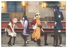 Sakura Hinata Naruto Sasuke. Who will marry who? I hope NaruSaku will happen cos it means there is a 1% chance of SasuHina :)