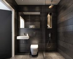 These half bathroom ideas help transform the decor of yours, even if you're on a tiny space. Update your bathroom decor in no time with these affordable. Half Bathroom Decor, Bathroom Design Small, Bathroom Interior, Modern Bathroom, Small Bathrooms, Bathroom Ideas, Bathroom Black, Bathroom Remodeling, Bathroom Wall Tiles