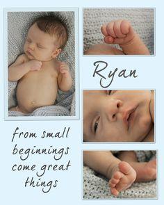 Birth announcement ideas...