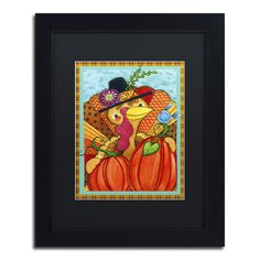 Trademark Art 'Patchwork Turkey' by Jennifer Nilsson Framed Graphic Art Size: