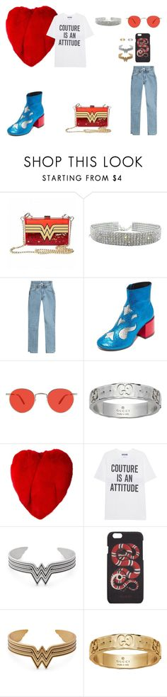 """Outfit #137"" by kepl ❤ liked on Polyvore featuring Vetements, MM6 Maison Margiela, Garrett Leight, Gucci, Yves Saint Laurent, Moschino and Alex and Ani"