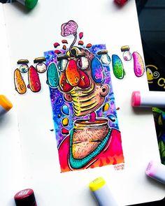 Doodle Art Drawing, Art Drawings, Doddle Art, Copic Art, Doodle Ideas, Painting Art, Art Inspo, Art Projects, Funny Memes