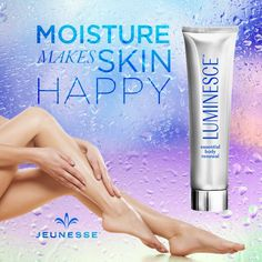 LUMINESCE essential body renewal's luxurious, lightweight, and youth-enhancing formula replenishes your thirsty skin and supports cellular renewal. Hydrated skin is happy skin. #RedefiningYouth