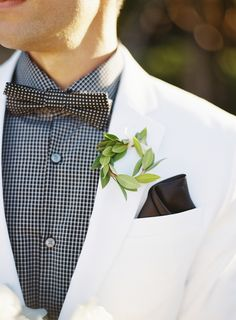 View entire slideshow: Unique Non-Floral Boutonnieres on http://www.stylemepretty.com/collection/2160/