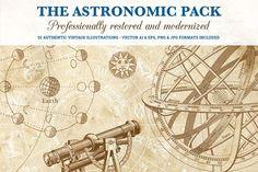 Big Astronomy Illustration Pack by Pingebat on @creativemarket