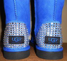 Custom Ugg Boots with Blinged Rhinestone Heels by CustomizedByOBC, $285.00