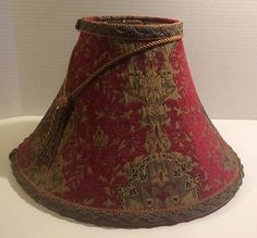 Victorian lamp shade black gold velvet fabric silk bead lighting red gold brocade french victorian style lamp shade with beaded tassel aloadofball Images