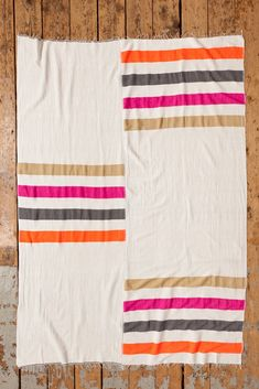 I see a lot of quilty inspiration in this Zoza Blanket in pink from lemlem.