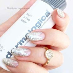 A grown-up glitter manicure – the NEW pavé mani! (Mani: Leeanne Colley/Tips Nail Bar)