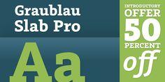 Graublau Slab Pro™ - Webfont & Desktop font « MyFonts