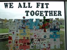 All Fit Together Display, classroom display, class display, Ourselves, All About Me, all together, jigsaw, Early Years (EYFS), KS1 & KS2 Primary Resources