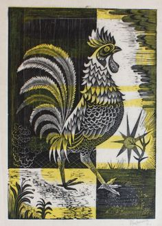 """Dawn"" by Donald Melbourne, 1954 (wood engraving on Japanese paper)"