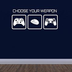 Gaming Wall Sticker - Choose Your Weapon Video Game Wall Decal ZygoMax http://www.amazon.co.uk/dp/B00WBTUE90/ref=cm_sw_r_pi_dp_jaPmvb0C437E5