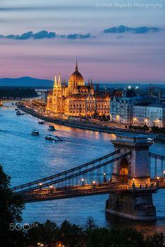 Budapest City at dusk
