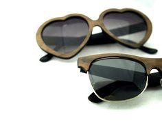 His and Her Wood Veneer Sunglasses //