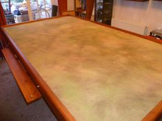 So the last post had the table construction finished in two days of sawing, nailing, screwing and sanding. Next jobs were staining the woodw. Wargaming Table, Wargaming Terrain, 40k Terrain, Tabletop Rpg, Tabletop Games, Cool Tables, Game Tables, Wooden Board Games, Build A Table