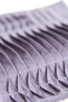 Tuck & Fold - fabric manipulation sample; creative sewing techniques // Ruth Singer #textiles