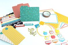 You'll will be amazed at the number of embellishments in this kit! These are just a few of the things you'll find, as well as die-cut felt, buttons, chunky paper clips, and more. #anthology #ygyclub #youngevity #cardmaking #craft