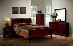Louis Philippe III 5 PC Bedroom Set by Furniture of America