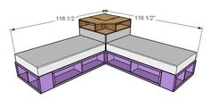 Ana White   Corner Hutch Plans for the Twin Storage Beds - DIY Projects