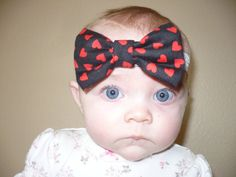 Hair Bow Baby Girl Headband Elastic Headband by Goodtreasures123 Infant, Newborn, Toddler