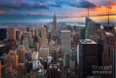 Nyc Photograph - New York New York by Inge Johnsson
