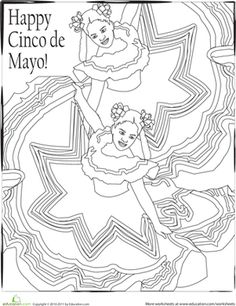 Cinco de Mayo Coloring Page | Worksheet | Education.