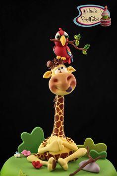 .bird-giraffe sugar art or porcelana fria