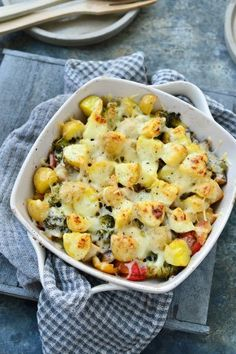 """Recept """"Ovenschotel met kip en kruidenkaas"""" 