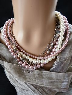 Pink Pearl Strands