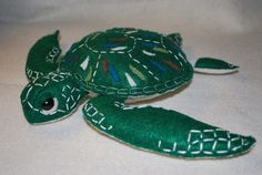 Soft Sculpture Sea Turtle by Felt Original by FeltOriginalToys
