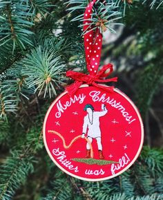 Funny Christmas Vacation Embroidered Ornament featuring Cousin Eddie Quotes Christmas Vacation, Funny Christmas, Merry Christmas, Christmas Ornaments, Funny Embroidery, Holiday Decor, Handmade Gifts, Quotes, Etsy