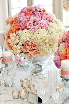 Wedding ● Tablescape Centerpiece ● Romantic