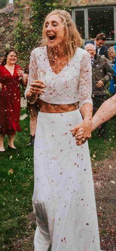Bride of Ollichon - Danielle Bridal Skirts, Wedding Skirt, Pink Culottes, Alternative Wedding Dresses, Bridal Separates, Bridal Outfits, Friend Wedding, On Your Wedding Day, Uk Shop