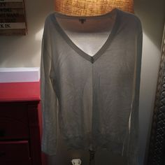 J Crew Medium V Neck Sweater! Great quality! Size medium J Crew! J. Crew Tops