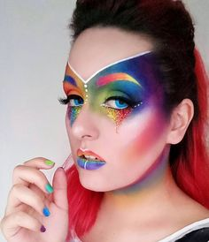 "153 Likes, 14 Comments - InkREDible Make-up & Art (@ink.red.ible) on Instagram: ""Alien Pride ️‍Happy Pride month everyone!️‍ I'm slowly feeling more and more comfortable…"""