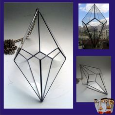 Teraryum DOC Terraria, Glass Terrarium, Glass Boxes, Stained Glass, Tiffany, Glass Art, Projects To Try, Planters, Ceiling Lights