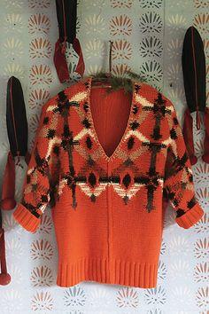 Cadmium Geometry sweater - Anthropologie