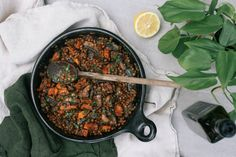BUTTERED BALSAMIC LENTILS WITH PORTOBELLO MUSHROOMS – Petite Kitchen. Sub out the butter for olive oil to veganise this.