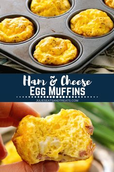 egg muffins These muffin tin eggs are a quick and easy breakfast is so delicious and perfect to grab on the way out the door! Make these Egg Muffins for a delicious breakfast recipe today! Eggs In Muffin Tin, Muffin Tin Recipes, Egg Recipes, Cooking Recipes, Muffin Tins, Cooking Ideas, Healthy Cooking, Healthy Recipes, Mini Quiches