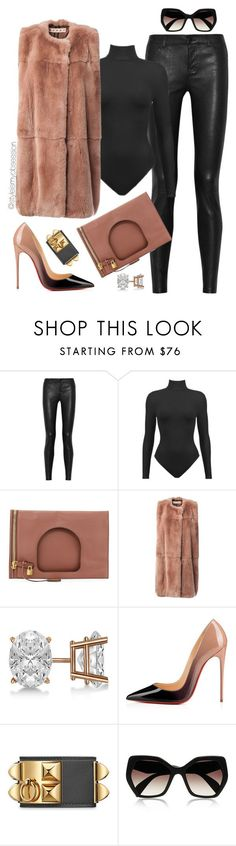 """Untitled #1639"" by dnicoleg ❤ liked on Polyvore featuring Vince, Tom Ford, Marni, Allurez, Christian Louboutin and Prada"