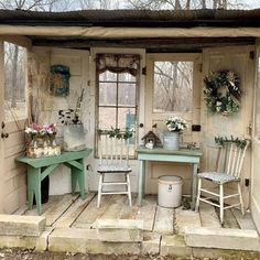 Find the perfect handmade gift, vintage & on-trend clothes, unique jewelry, and more… lots more. Garden Shed Diy, Backyard Sheds, Garden Cottage, Backyard Landscaping, Easy Garden, Garden Arbor, Garden Junk, Rustic Gardens, Outdoor Gardens