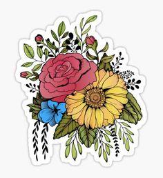 SUNFLOWER & ROSE Sticker