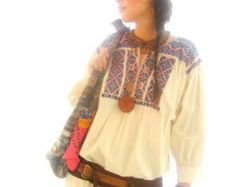 Purple Pink Magic peyote cross stich flowers Vintage Mexican embroidered top tunic textile art Frida Kahlo style