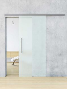 Sliding glass industrial door