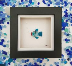 Sea glass art fish fathers day gift for mom birthday gift for