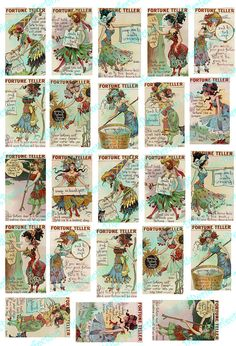 Vintage Fortune Teller Cards for your Artwork by DigitalPerfection, $4.00